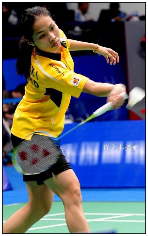 最年轻的女子羽毛球美女中尉拉差诺因达农(冠军世界图片