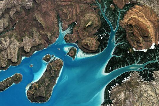 """卫星拍摄澳大利亚海湾"""""""